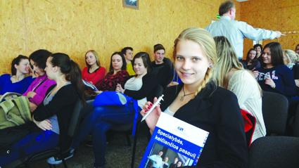 4 kl. gimnazistė Ilona Žilinskytė norėtų studijuoti VGTU
