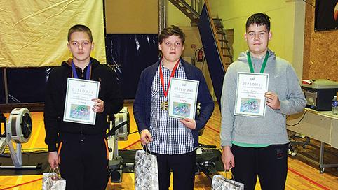 (Pirmas iš kairės) Tautvydas Barakauskis, Ignotas Gruodis ir Povilas Kairaitis