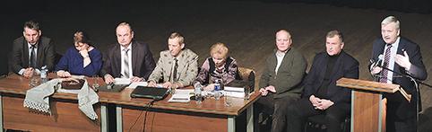 Konferencijos prezidiumas, kalba Europarlamentaras B. Ropė