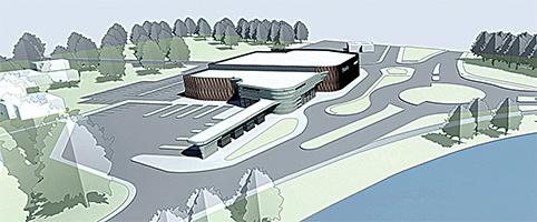 Būsimos naujosios Trakų autobusų stoties vizualizacija