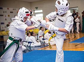 Finalinė trakiečių kova, kairėje Aurimas Vižinis, dešinėje Danielius Petkevič