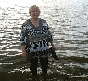 Šukuosenų dizainerė Inga Čirvinskienė Estijos pajūryje