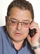 """Bendrovės """"Grainmore"""" grūdų prekybos vadovas Aldas Mockus nuolat kalbasi su grūdų tiekėjais"""