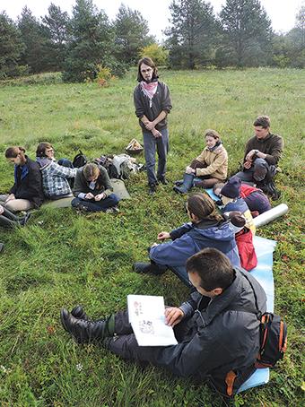 Paskaitą skaito archeologas doktorantas Gediminas Petrauskas