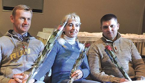 Geriausios ekologinės gamybos ūkio savininkų titulas buvo skirtas Dariui ir Laimai Kamaičiams, o trečiąją vietą užėmė Tauras Kurdzikauskas (dešinėje)